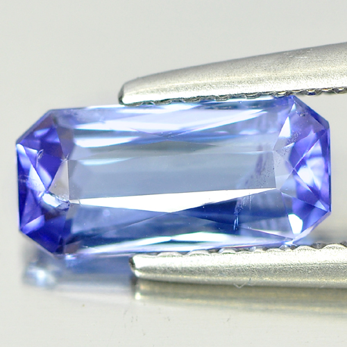 1.12 Ct. Clean Octagon Shape Natural Violetish Blue Tanzanite Gemstone