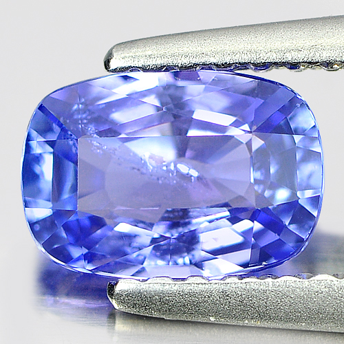 1.00 Ct. Cushion Shape Natural Violetish Blue Tanzanite Gem From Tanzania