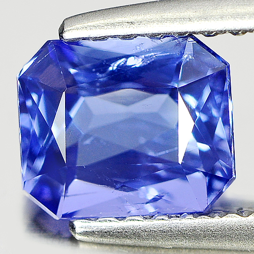 1.09 Ct. Octagon Natural Violetish Blue Tanzanite Gem