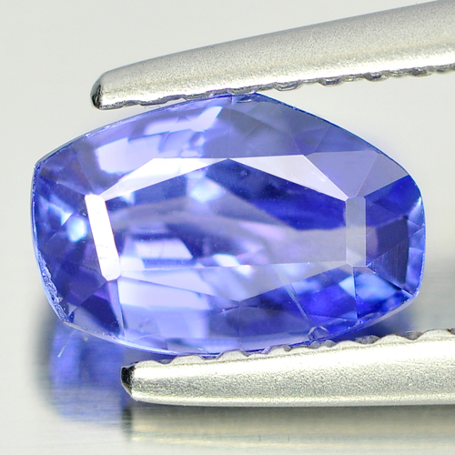 Certified 1.07 Ct. Fancy Shape Natural Violetish Blue Tanzanite From Tanzania