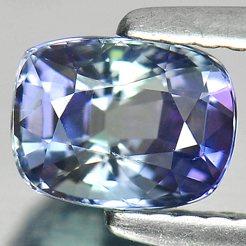1.02 Ct. Cushion Natural Violetish Blue Tanzanite Gem