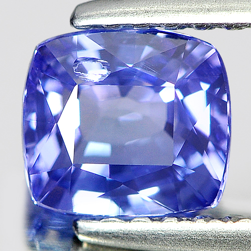 1.01 Ct. Good Cushion Natural Violetish Blue Tanzanite Gem From Tanzania