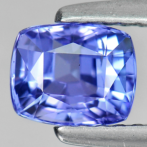 1.10 Ct. Cushion Natural Violetish Blue Tanzanite Gem