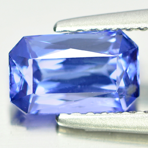 1.21 Ct. Octagon Shape Natural Gemstone Clean Violetish Blue Tanzanite