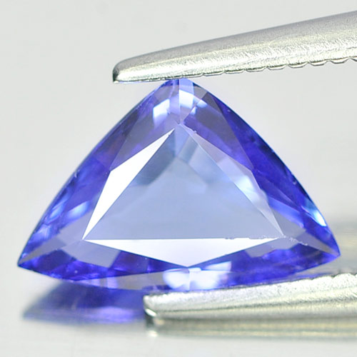0.93 Ct. Trilliant Shape Natural Gem Violetish Blue Tanzanite From Tanzania