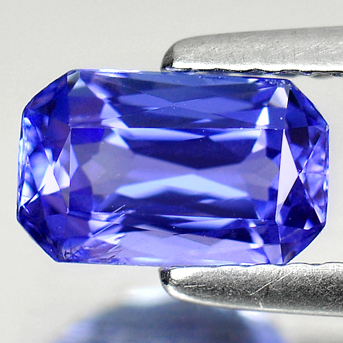 1.14 Ct. Octagon Shape Natural Gem Violetish Blue Tanzanite