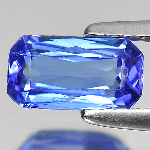 1.22 Ct. Octagon Shape Natural Gemstone Violetish Blue Tanzanite From Tanzania