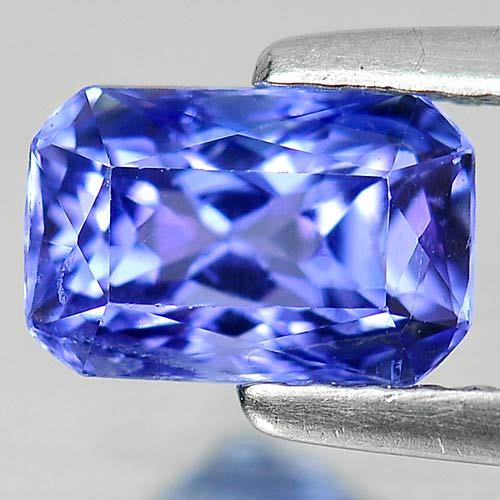 1.19 Ct. Octagon Shape Natural Gemstone Violetish Blue Tanzanite From Tanzania
