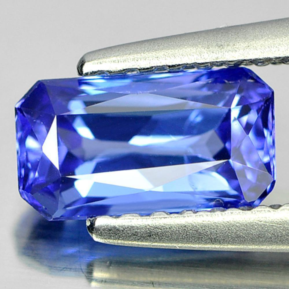 1.02 Ct. Octagon Shape Natural Gemstone Violetish Blue Tanzanite From Tanzania