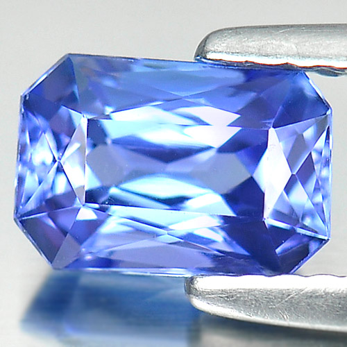 1.25 Ct. Clean Octagon Shape Natural Gem Violetish Blue Tanzanite From Tanzania