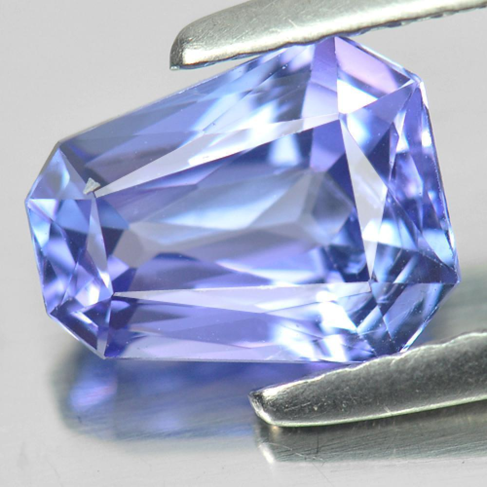 1.43 Ct. Fancy Shape Natural Gemstone Violetish Blue Tanzanite From Tanzania