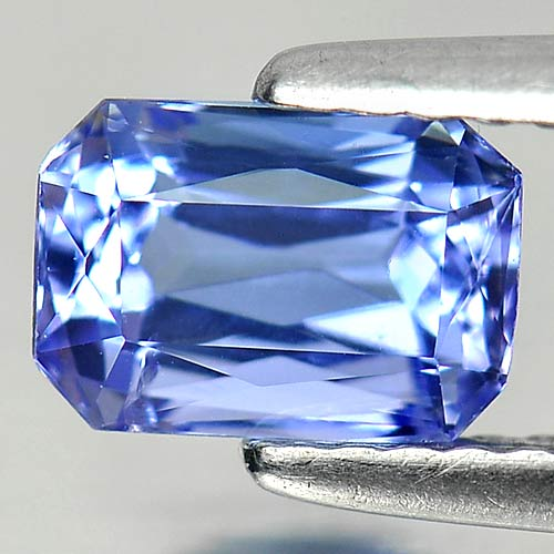1.20 Ct. Octagon Shape Natural Gemstone Violetish Blue Tanzanite From Tanzania