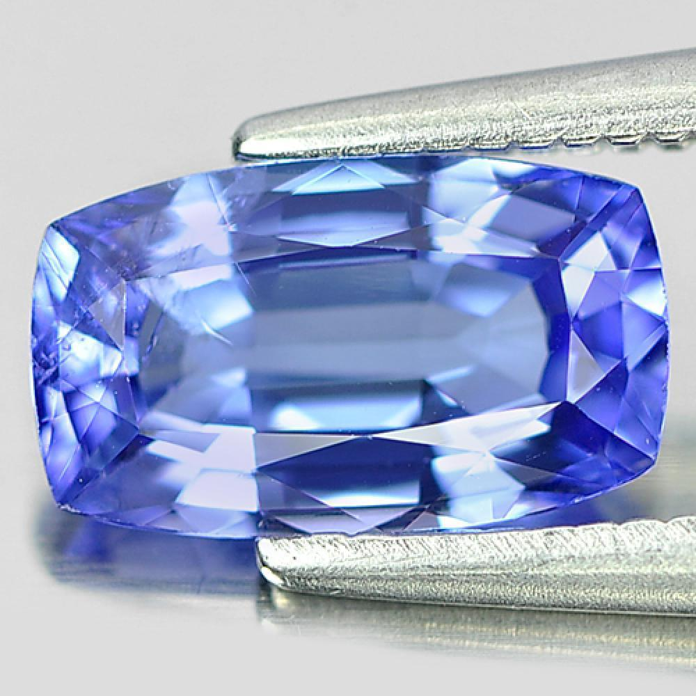 1.20 Ct. Cushion Shape Natural Gemstone Violetish Blue Tanzanite From Tanzania
