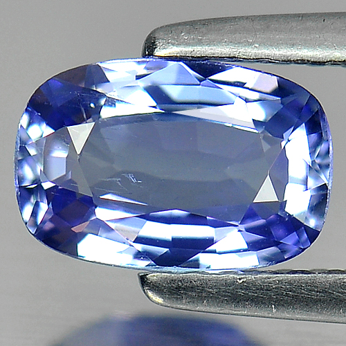 0.99 Ct. VVS Cushion Natural Violetish Blue Tanzanite
