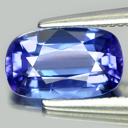 1.19 Ct. Clean Cushion Natural Violetish Blue Tanzanite Gemstone