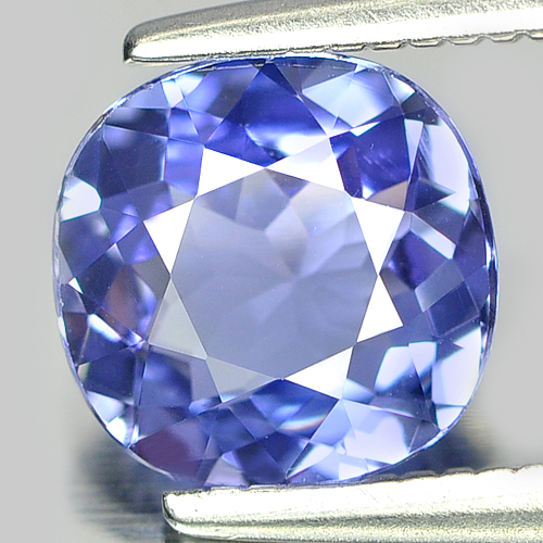 1.18 Ct. Clean Cushion Natural Violetish Blue Tanzanite