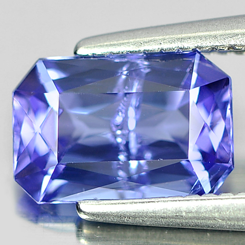 1.18 Ct. Octagon Shape Natural Gemstone Violetish Blue Tanzanite From Tanzania