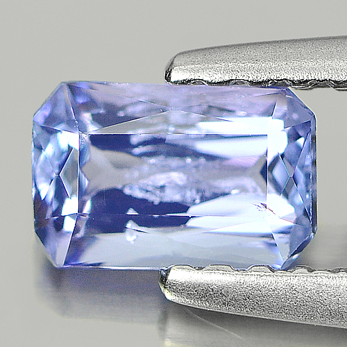 0.60 Ct Octagon Shape Natural Violetish Blue Tanzanite