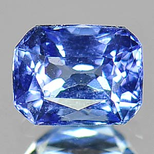 0.51 Ct  Lovable Natural Tanzanite Violetish Blue Octagon Shape Gemstone