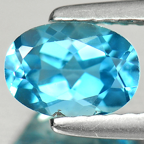 1.01 Ct. Good Luster Oval Cut Noticeable Natural Swiss Blue Topaz