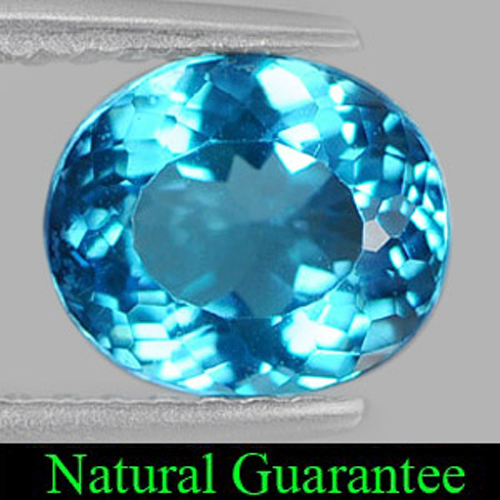 1.36 Ct. Natural Oval Shape Swiss Blue Topaz Gemstone