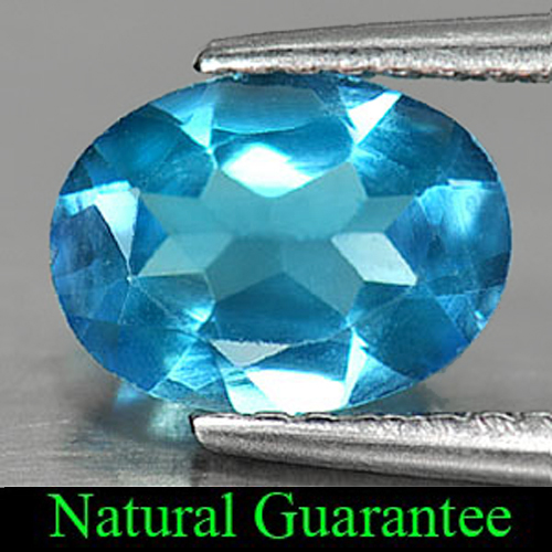 1.24 Ct. Delightful Natural Swiss Blue Topaz Oval Shape Gemstone