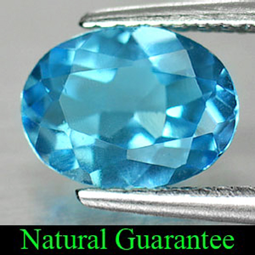 1.28 Ct. Oval Shape Natural Gemstone Swiss Blue Topaz