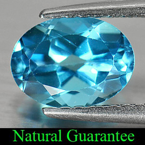 1.34 Ct. Oval Shape Natural Gemstone Swiss Blue Topaz