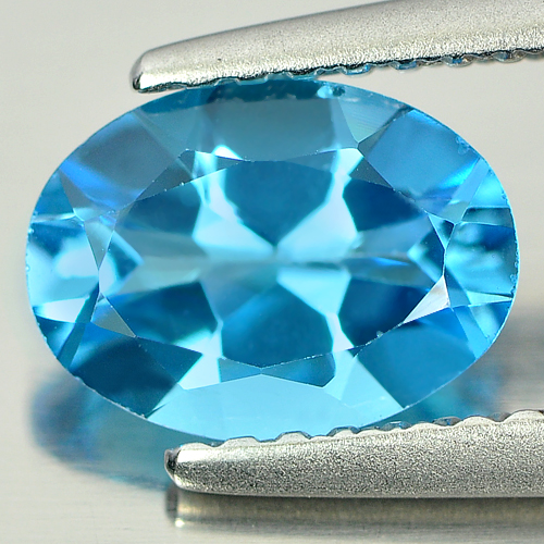 1.24 Ct. Oval Shape Natural Gemstone Swiss Blue Topaz