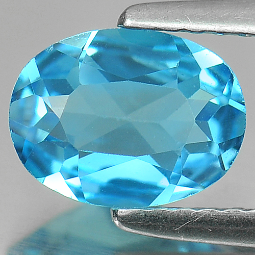 1.26 Ct. Oval Shape Natural Swiss Blue Topaz Gemstone