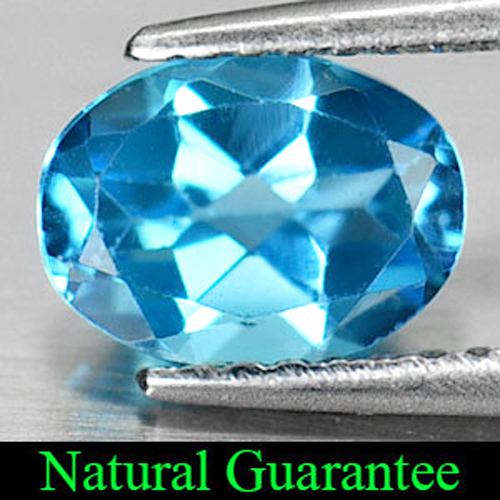 1.31 Ct. Alluring Natural Oval Shape Swiss Blue Topaz Gemstone