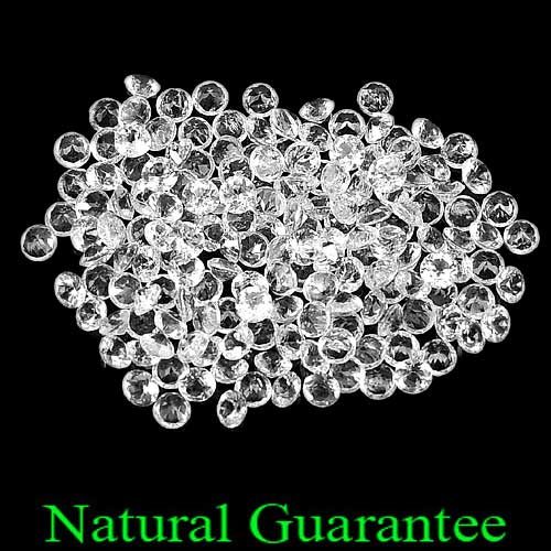 ONLY 1 Pc. / $3.00 Natural Gemstones White Topaz Round Diamond Cut Unheated