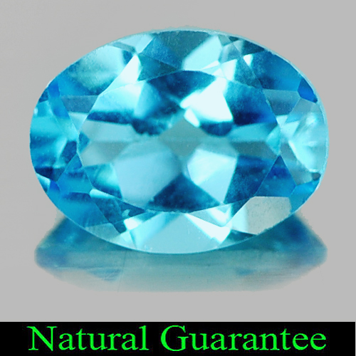 1.34 Ct. Natural Gemstone Swiss Blue Topaz Oval Shape