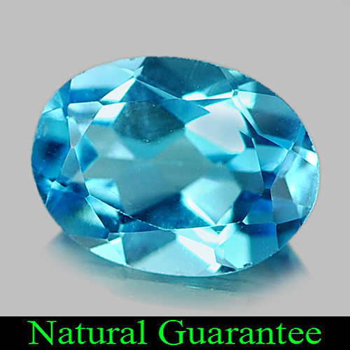 1.30 Ct. Oval Natural Gemstone Swiss Blue Topaz From Brazil
