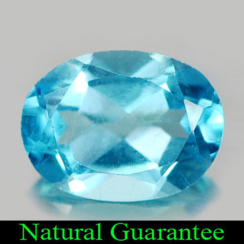 1.28 Ct. Attractive Natural Gem Swiss Blue Topaz Oval Shape