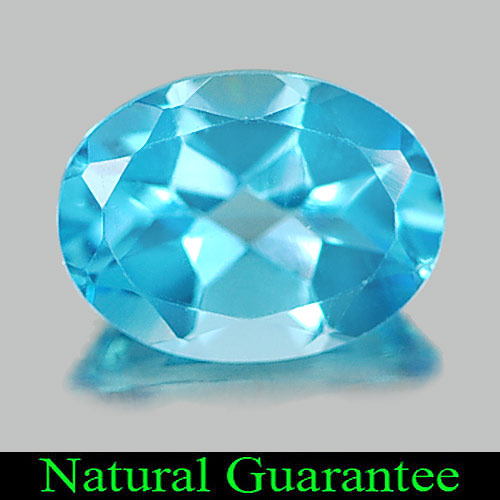1.34 Ct. Delightful Oval Natural Gem Swiss Blue Topaz From Brazil