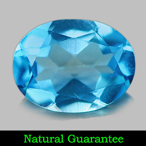 1.27 Ct. Natural Gemstone Swiss Blue Topaz Oval Shape