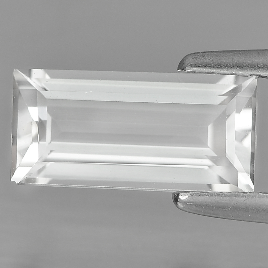 Unheated 1.85 Ct. Baguette Shape Natural White Topaz From Brazil