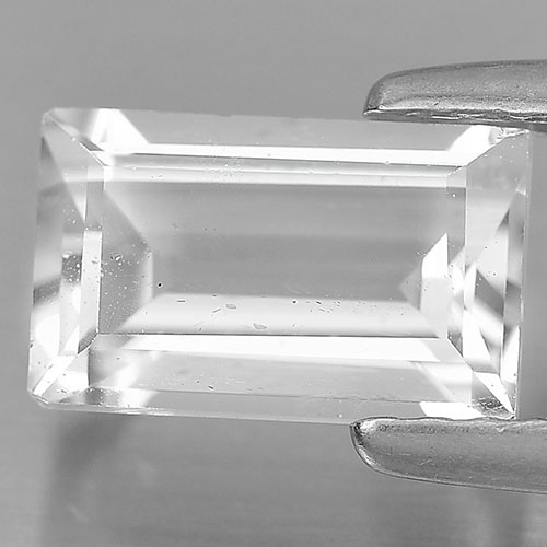 1.50 Ct. Nice Cutting Baguette Shape Gem Natural White Topaz Unheated