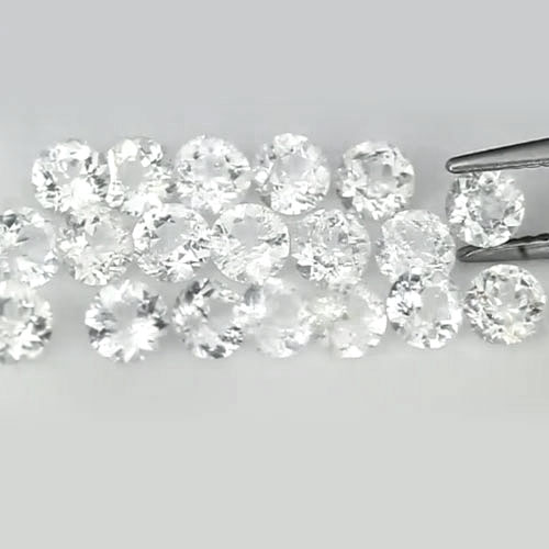 5.97 Ct. 20 Pcs. Round Diamond Cut Natural Gems White Topaz From Brazil Unheated