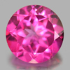 1.26 Ct. Round Shape 6.3 Mm. Natural Gemstone Clean Pink Topaz From Brazil