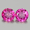 2.02 Ct. Matching Pair Round Shape 6.1 Mm. Natural Gem Pink Topaz From Brazil