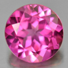 2.48 Ct. Round Shape 8.1 Mm. Natural Gemstone Clean Pink Topaz From Brazil