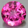 2.13 Ct. Round Shape 8.1 Mm. Natural Gemstone Clean Pink Topaz From Brazil