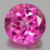 2.32 Ct. Round Shape 8.1 Mm. Natural Gemstone Clean Pink Topaz From Brazil