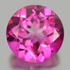 2.21 Ct. Round Shape 8.1 Mm. Natural Gemstone Clean Pink Color Topaz From Brazil