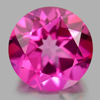 2.21 Ct. Round Shape 8.1 Mm. Natural Gemstone Clean Pink Topaz From Brazil