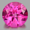 2.31 Ct. Round Shape 8.1 Mm. Natural Gemstone Pink Topaz From Brazil