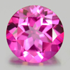 2.18 Ct. Round Shape 8.1 Mm. Natural Gemstone Clean Pink Topaz From Brazil