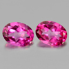 2.86 Ct. Oval Shape Matching Pair Natural Gemstone Clean Pink Topaz  From Brazil